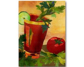 A BLOODY MARY in the Morning - Card or Print - Share the Memories Collection - Vintage Art Card (CMEM2013052)
