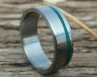 Pure Titanium Band Glow offset inlay
