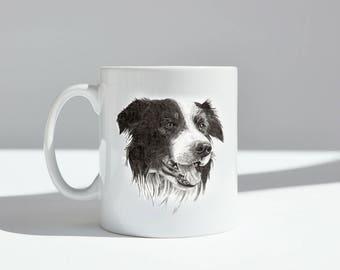 Border Collie Mug Dishwasher safe.