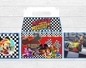 mickey mouse and the roadster racers Gable box favors
