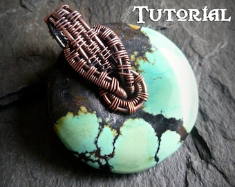 TUTORIAL - Interlock Bail Wrap - Pendant Lesson - Wire Wrapped Donut Necklace - Go-Go Wrap or Top-Drilled Pendant Bead Wire Weave