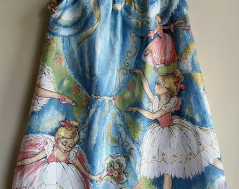 Little summer dress, cotton, children's clothing, kids fashion, girls dress size 2 to 3, ballerinas, Caprice, Australian handmade