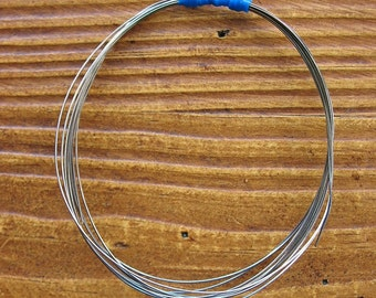 26 gauge Antiqued Sterling Silver Dead Soft Recycled Round Wire -  5 feet