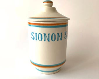 Vintage kitchen jar Sionon 3 Ceramic