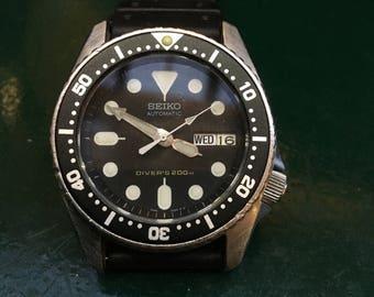 Seiko midsize automatic divers watch 7s26-0030 sale itme bargain