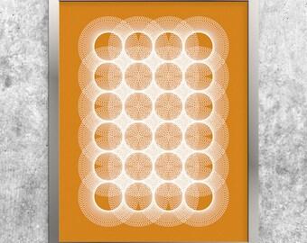 Orange Geometric Art, Instant Download Printable Art, Modern Art Print, Abstract Art Poster, Minimalist Orange Home Decor, Digital Wall Art