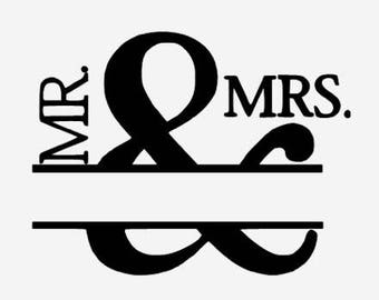 Mr  & Mrs decal