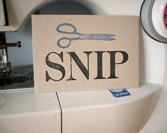 Scissor Notecard