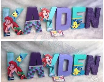 The little Mermaid- Mermaid Letters- Mermaid Party- Marmaid decor- Marmaid Letters Set