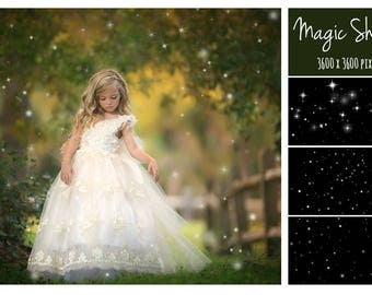 Fairy Magic Shine Overlays, Glitter Effect Photo Overlays, Fairy Dust Frame, Magic Shine, Fairy dust effect, Glitter Overlay, Fireflies