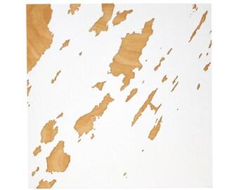 Casco Bay Islands - 12x12 | Wood Wall Art | Nautical Chart | Maine Map | Maine Art | Nautical Decor | Portland Maine | Made in Maine