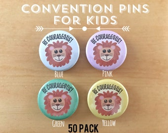 Convention Pins for Kids - 50 Pack