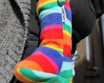 6-12 months RAINBOW Sling Shoe, the Babywearing Booties / Socks