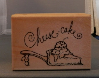 Cheese cake shoe rubber stamp