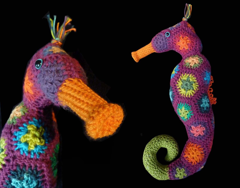 Magnífico Crochet Patrón De Aplicación Seahorse Modelo - Ideas de ...