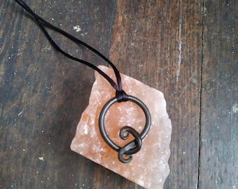 Blacksmith Hand Forged Iron Shape Pendant Necklace