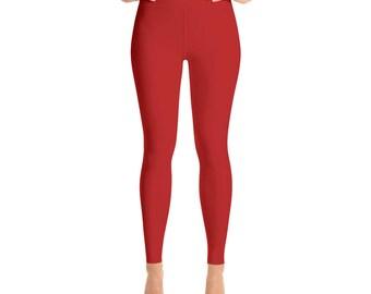 Ruby Red Yoga Leggings