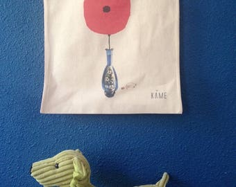 """Tote Bag """"Sweet poppy in the decanter"""""""