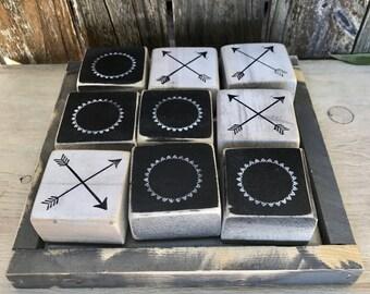 Rustic Wood Tic Tac Toe Game, Outdoor Games, medium