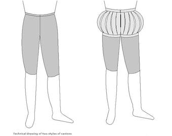 MA017 - The Elizabethan Gentleman's Venetian Breeches Pattern by Margo Anderson