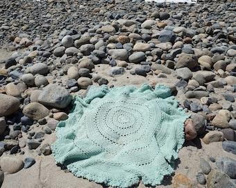 Beach Blanket, Boho Blanket, Round Blanket