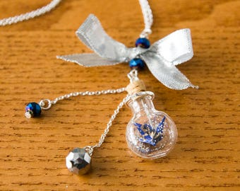 Handmade Jewelry-Origami necklace-bottle necklace-Japanese necklace-gifts for the inauguration-anniversary gifts