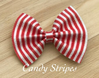 Candy Stripes- Glitter Bow