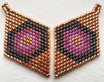Rust, Copper, Rhubarb Hexagons
