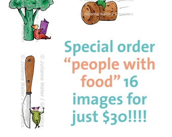 Special order 16 peeps with food