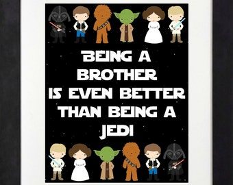 Star Wars Printable < Star Wars Birthday Party < Star Wars Bedroom < Being A Brother is Even Better Than Being A Jedi < Han Solo < Yoda