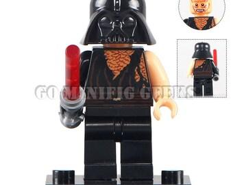 Custom Battle Damaged Darth Vader Minifigure Star Wars Fits Lego UK Seller