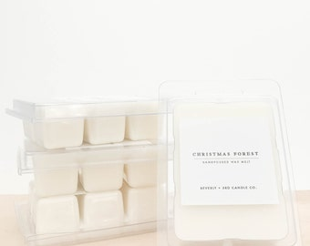 CHRISTMAS FOREST Soy Wax Melts | Scented Soy Tarts, Soy Candle Melt, Scented Wax Cubes