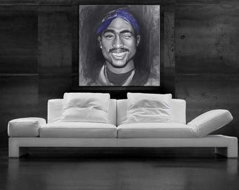 2pac painting Pop art canvas print wall decor