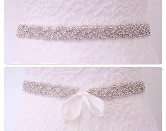 Bridal belt, Crystal bridal belt, rhinestone wedding belt, bridal sash belt, wedding belt, wedding dress belt, crystal bridal sash