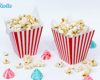 Red and White Popcorn Cup - 3D Model - Serving Popcorn Cup - Instant Download - Printable - PI_3025