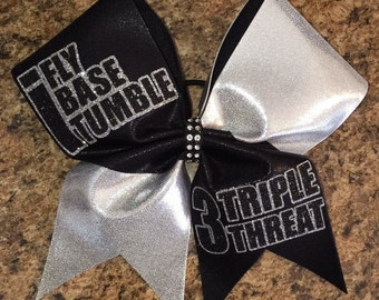 Triple Threat cheer bow