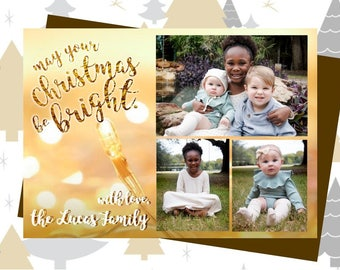 May Your Christmas Be Bright photo card layout