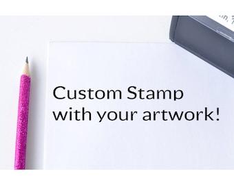 Custom Logo Self Inking Address Stamp - Business Logo Stamp - Personalized Stamp