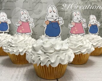 Max and Ruby Cupcake Toppers