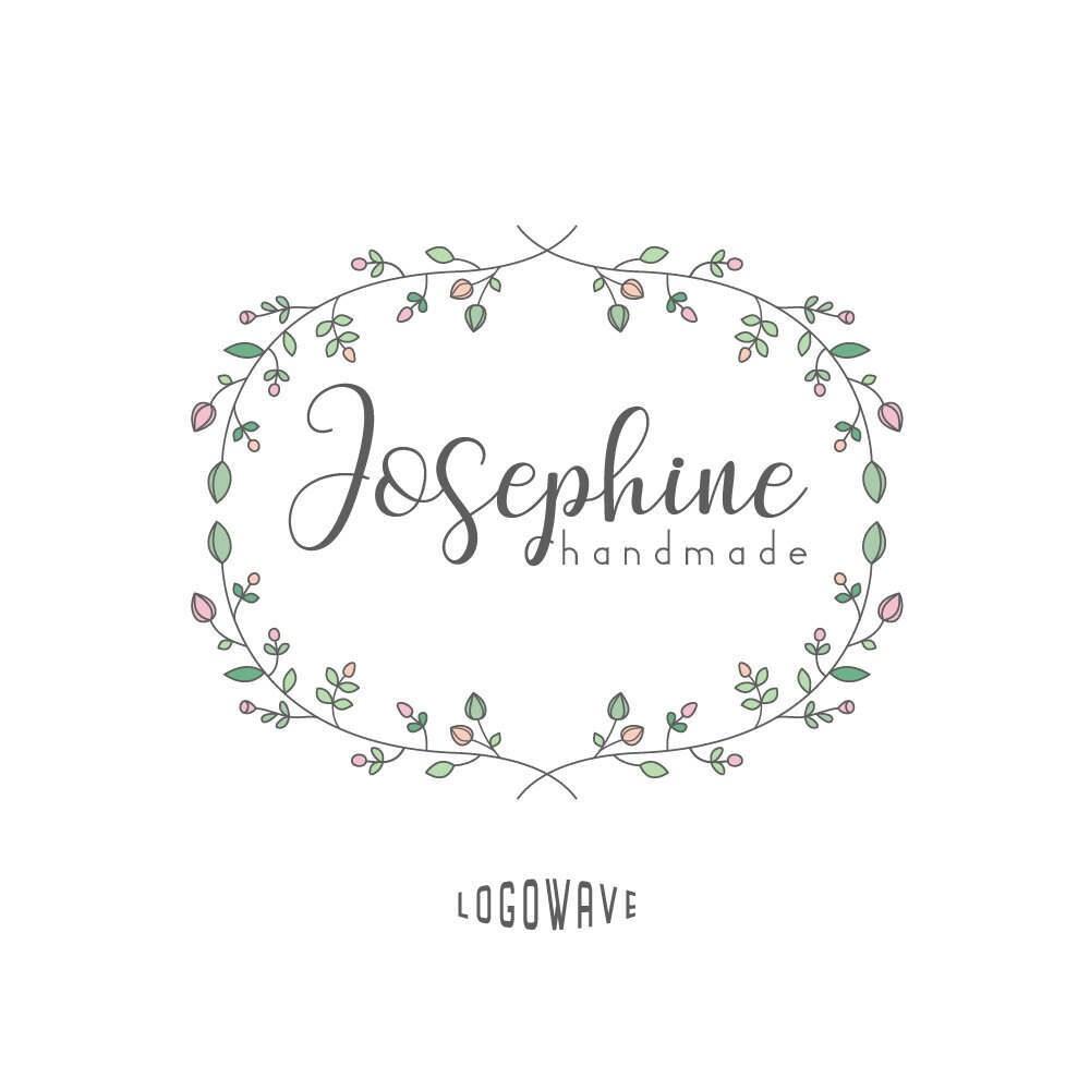Boutique Logo. Handmade Logo. Photography Logo. Floral Logo