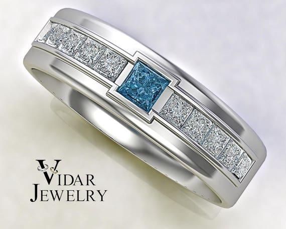 mens blue diamond wedding bands wedding decor ideas