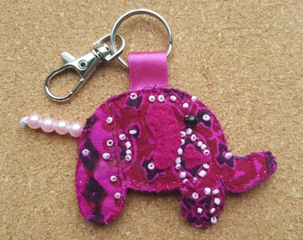 Handmade elephant keyring
