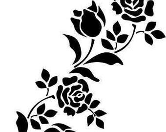 Flower Roses Wall Stencil art handcut