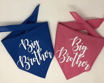 Dog Pregnancy Announcement Bandana, Big Brother Dog Bandana, Gender Reveal, Dog Gender Reveal, Creative Gender Reveal, Big Brother Bandana