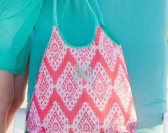 Coral Cove Viv & Lou® Beach Bag, Coral Cove Beach Tote, Monogram Beach Bag, Monogram Beach Tote, Personalized Beach Tote, Viv and Lou Tote
