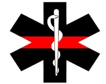 "Fire Deparment Logo (T25) EMS 4"" Firefighter Vinyl Decal Sticker Car Window"