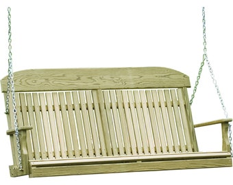 LuxCraft 5ft. Classic Highback Treated Porch Swing