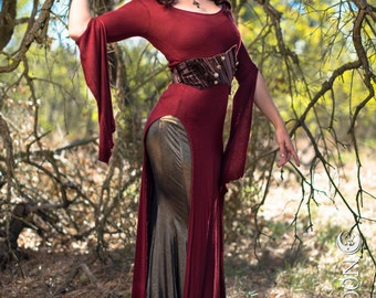 The Red Panel Dress by Opal Moon Designs (XS-XXL) Plus Size Available