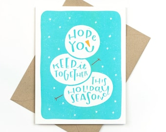 keep it together card - funny holiday card