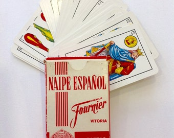 Naipe Espanol Spanish playing cards Spanish deck 40 cards vintage